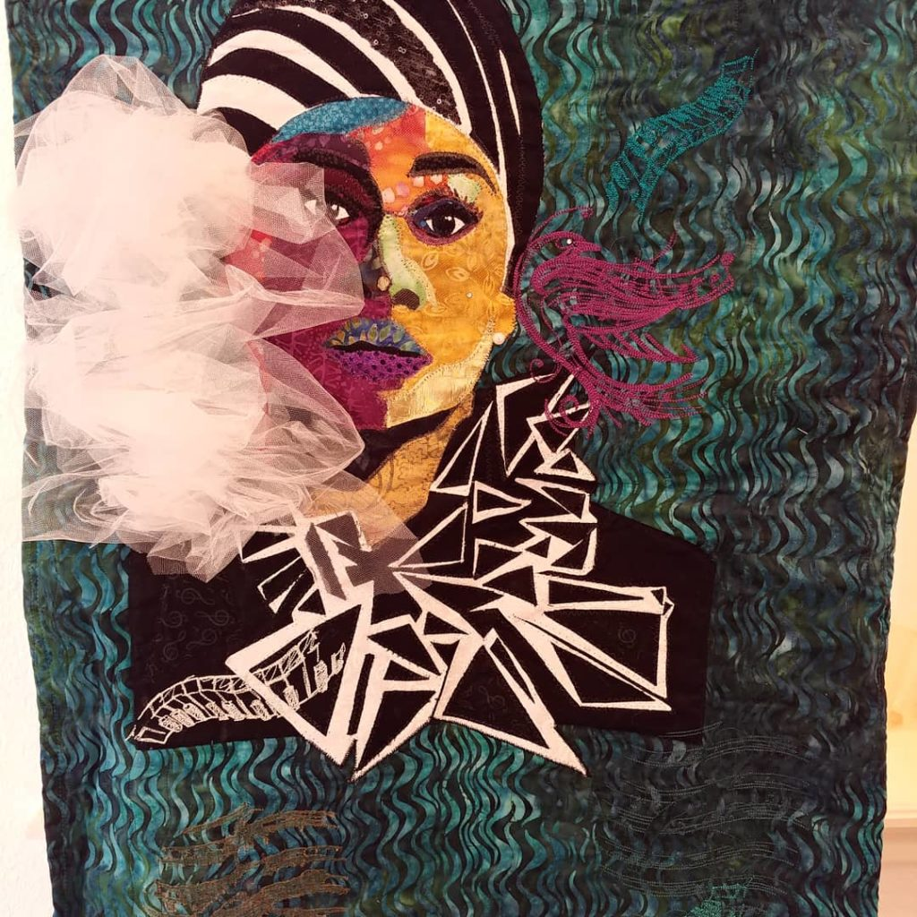 Image of art quilt by Deborah Harris, FASA 2019-20 President